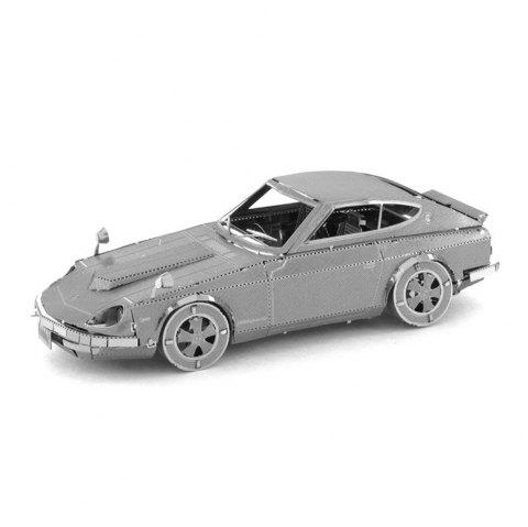 Car 3D Metal High-quality DIY Laser Cut Puzzles Jigsaw Model Toy - SILVER