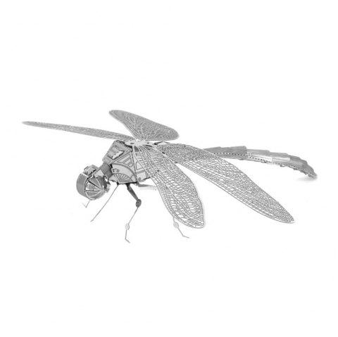Dragonfly 3D Metal High-quality DIY Laser Cut Puzzles Jigsaw Model Toy - SILVER