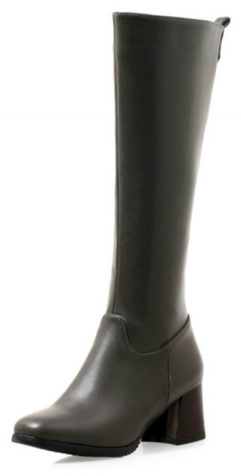 Round Head with Medium and Simple High Boots - GRAY EU 34