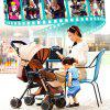 Super Portable Folding Four Wheeled Hand Push Can Sit Baby Cart Ultimate - TAN