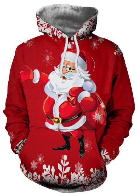 Fashion Trend Men's 3D Printed Christmas Pattern Hooded Sweater - multicolor B S