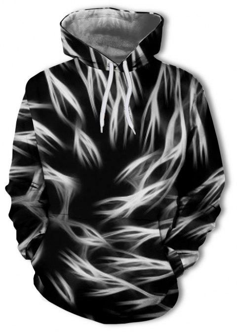 Casual Fashion Men's 3D Printing Personality Hooded Sweater - multicolor B XL