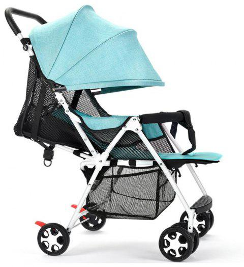 Child Pushchair Lightweight Portable Folding Baby Cart - GREEN