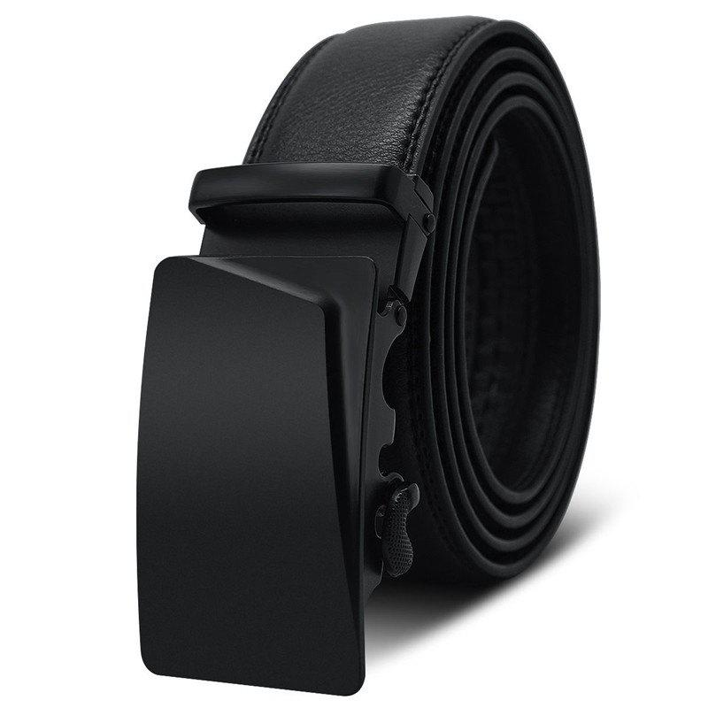 Men's Belt Automatic Buckle Solid Color Business Casual Accessory