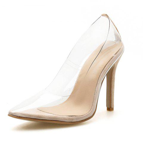 Women's Pointed Toe Stiletto High Heels Sexy Party Pumps - APRICOT EU 40