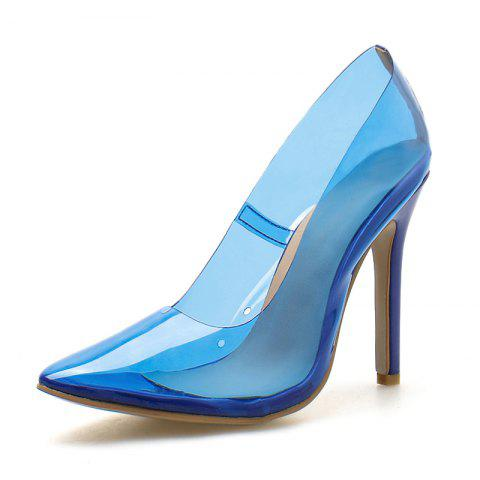 Women's Pointed Toe Stiletto High Heels Sexy Party Pumps - OCEAN BLUE EU 40