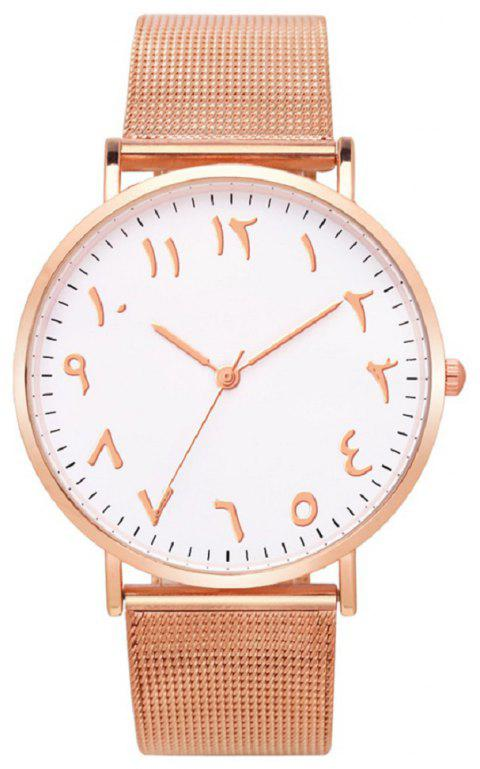 Personality Arabic Digital Fashion Wire Strap Watch - ROSE GOLD REGULAR