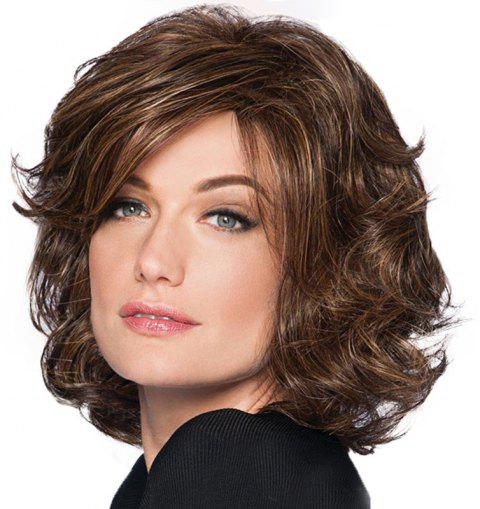 Partial Distribution Type Fluffy Short Wig - DEEP COFFEE