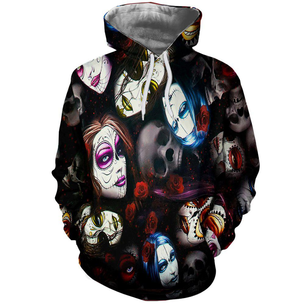 [17% OFF] 2020 Fashion Men's 3DY Print Ghost Figure Hoodie