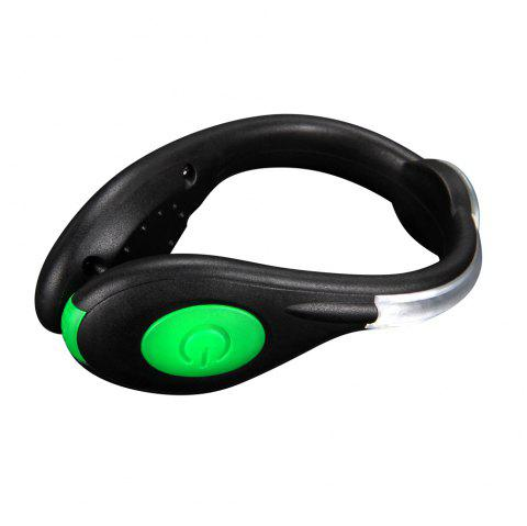 Led Clip Light USB Rechargeable Night Walking Running Safety Light Led Flashing - GREEN APPLE 1PC