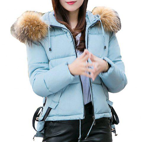 short Slim Winter Jackets Women 2018 Down Jacket Women Outerwear Winter Coat - SKY BLUE S