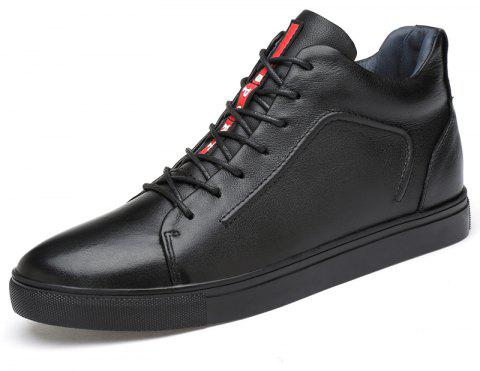 Mens Winter Plus Cotton Casual Fashion Shoes - BLACK EU 43