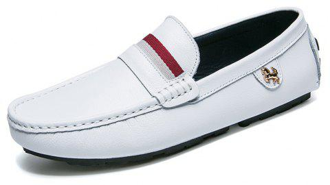 Mens Casual Fashion Bean Shoes - WHITE EU 39
