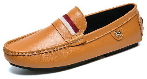 Mens Casual Fashion Bean Shoes - CHOCOLATE EU 41