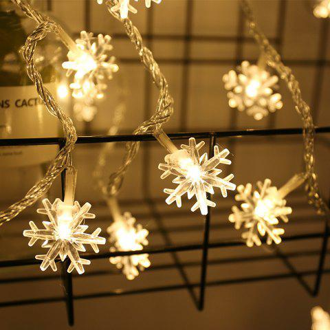 YEDUO Christmas Tree Snow Flakes Led String Fairy Light  Party Wedding Garden - WARM WHITE 80个