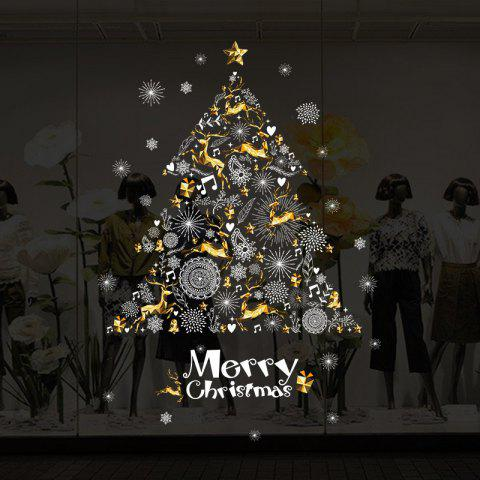 YEDUO Shop Window Decoration Wall Stickers Christmas Tree  Art Wall Poster Home - multicolor