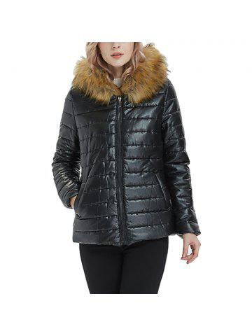 cf28d8ba5919f 2019 Black Hooded Fur Coat Online Store. Best Black Hooded Fur Coat ...