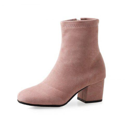 Round Head with Medium and Women'S Boots - PINK EU 37