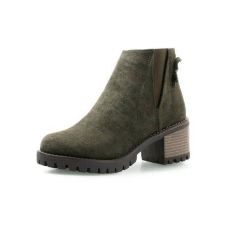 Round Waterproof with Rough with The Fashionable Ladies Boots - ARMY GREEN EU 37