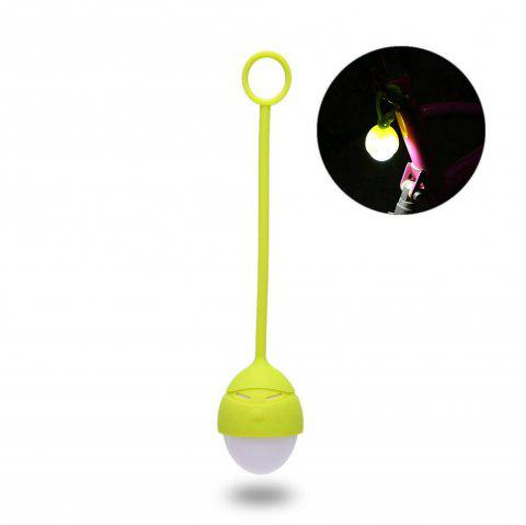 Cute Cartoon Masked Man Shape Silicone Lamp Portable USB Night Light Bed Lamp - GREEN YELLOW