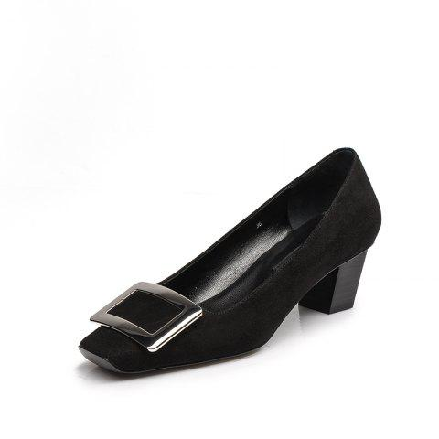 Women'S Shoes with A Square Head of 4.5CM - BLACK EU 36