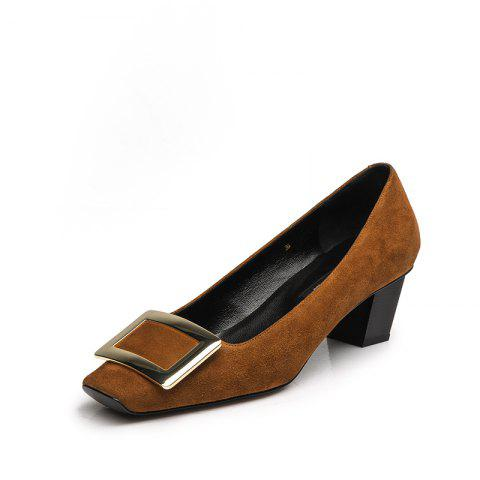 Women'S Shoes with A Square Head of 4.5CM - SAFFRON EU 38