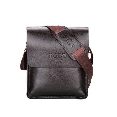 VICUNAPOLO V8801 Business Casual Men's Bag - DEEP BROWN M