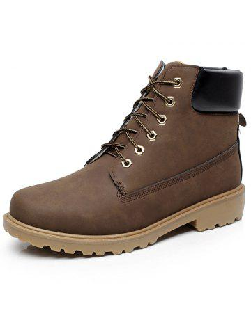 c389812cb7a Winter Fashion Men Work Safety Shoes PU Leather Boots Ankle Boots