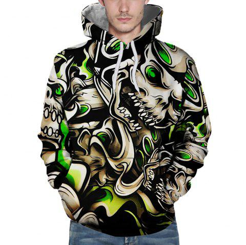 faire les courses pour Los Angeles dernière vente Sweat à capuche homme 3D Sports Winter Monster Cartoon Print