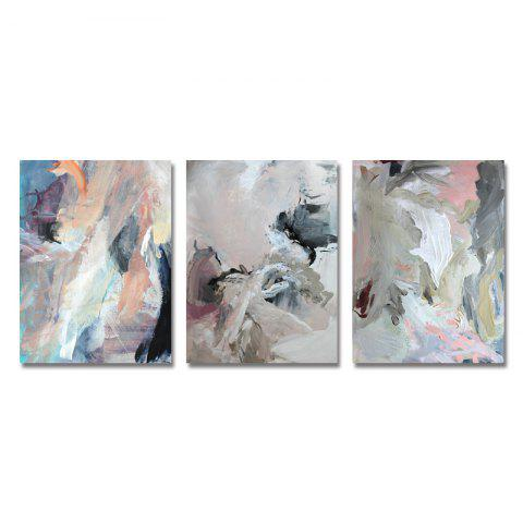 DYC 3PCS Abstraite Peinture Impression Texture Art - multicolor
