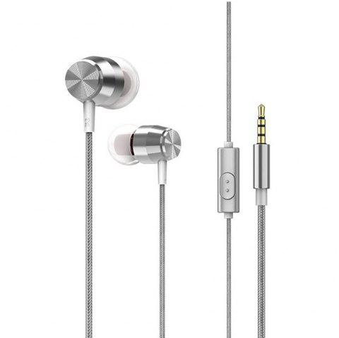Noise Cancelling Earphone Earphone 3.5mm Headphone - SILVER