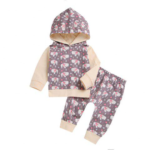 Quality Yak Sweater Coat and Trousers Two Piece - WHITE 70