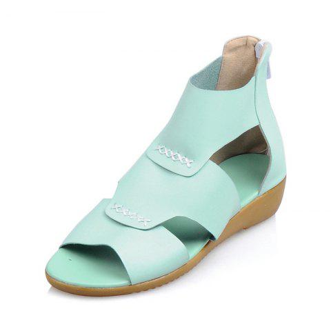 Simple Back Zipper Comfortable Sandals - LIGHT SLATE EU 33