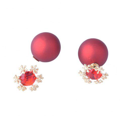 Fashion Alloy Snow Earrings - RED