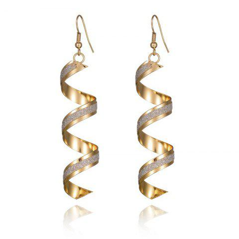 Gold Spiral Geometric Earrings - GOLD 1 PAIR