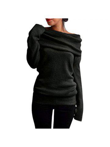 Off the Shoulder Fashion Casual Sweater