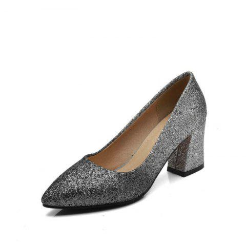 Sexy Women'S Shoes with High Heels - SILVER EU 38
