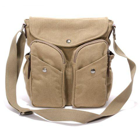 30e73901e492 2019 New Canvas Simple Men Satchel In TAN