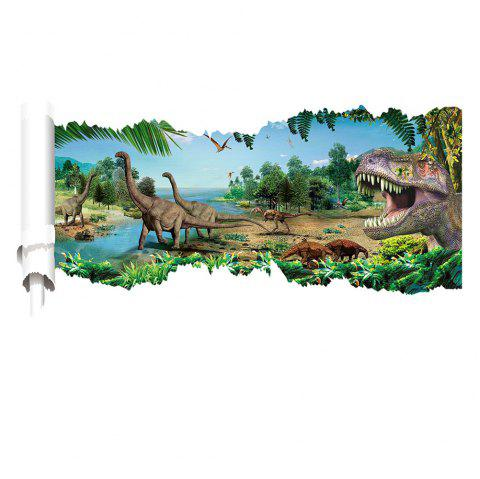 3D effec World Park Dinosaurs Wall Stickers for Kids Rooms Boy room Decoration - multicolor A 20 X 28 INCH