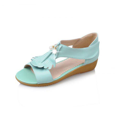 Summer Leaf Pearl Sweet Sandals - MEDIUM TURQUOISE EU 34