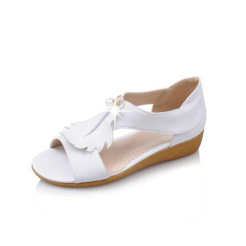 Summer Leaf Pearl Sweet Sandals - MILK WHITE EU 43