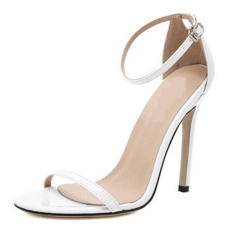 Women's Stiletto Open Toe Shoes Sexy Sandals - WHITE EU 38