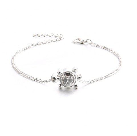Women's Anklet Chain Cute Turtle Design Chic All Match Accessory - PLATINUM