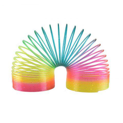 Glow in Dark Walking Rainbow Spring Toy Circle Slinky Magic Circle Stretchy - FANTASTIC