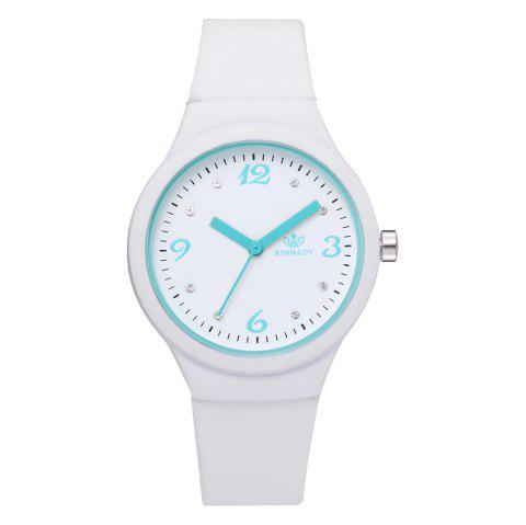 XR2906 Classic Silicone Fashion Watch Jelly Watch Couple Watch - WHITE