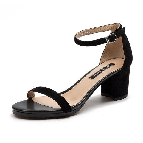 A 5CM Heel Height for Women During Commute - BLACK EU 34