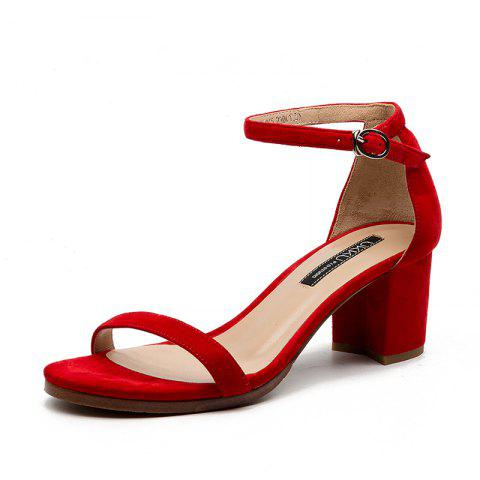 A 5CM Heel Height for Women During Commute - RED EU 40