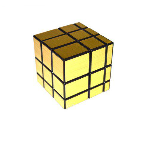 Mirror Three - Stage Shaped Golden Cube - GOLD