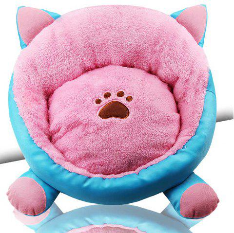 New Style Cat Ears Autumn and Winter Thicken Cozy Pet Nest - HOT PINK 40*40*18CM
