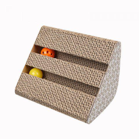 Kitten Corrugated Paper Scratch Board Pet Supplies Ball Toy - multicolor